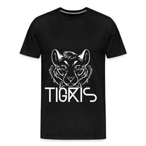 Tigris Logo Picture Text White - Men's Premium T-Shirt