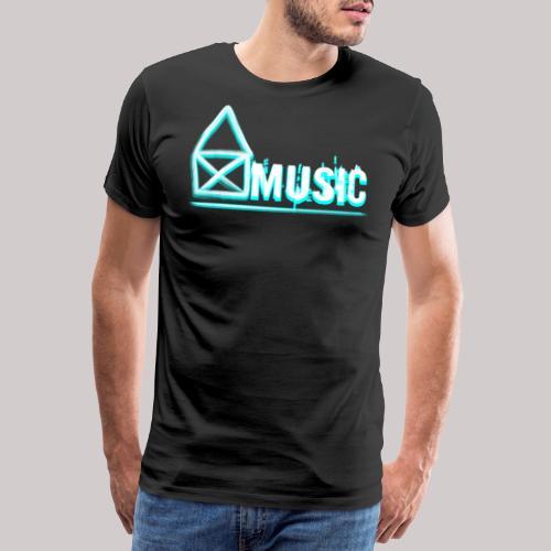 House Music weiss - Männer Premium T-Shirt