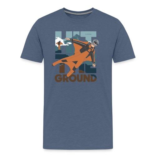 Hit The Ground - Herre premium T-shirt
