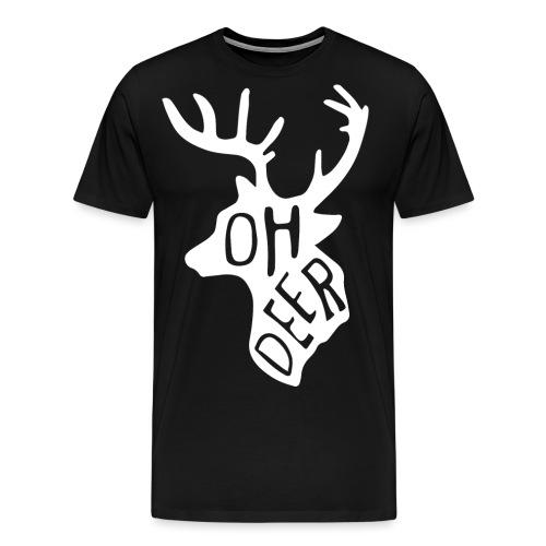 ohdeerwhitepng png - Mannen Premium T-shirt