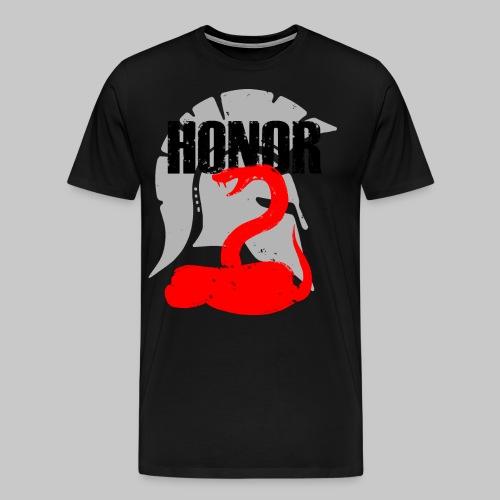 2reborn spartan honor ehre sparta schlange snake e - Männer Premium T-Shirt