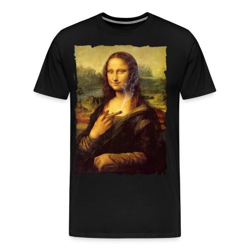 mona lisa fumeta color - Camiseta premium hombre