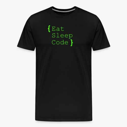 eat sleep code - Männer Premium T-Shirt