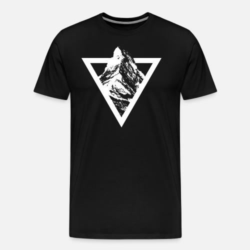MATTERHORN TRIANGLE SIMPLE - Männer Premium T-Shirt