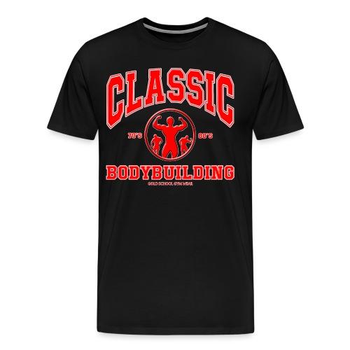 Classic Bodybuilding 70's. 80's Posing - T-shirt Premium Homme