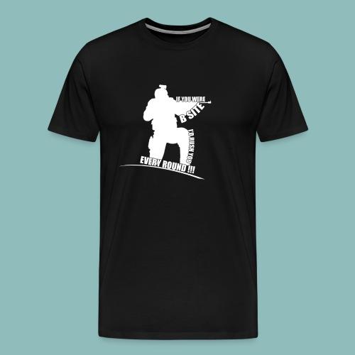 I'd rush you! White Version - Männer Premium T-Shirt