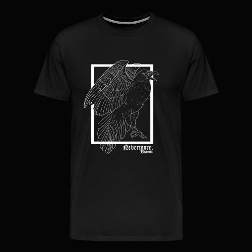 Nevermore in White - Camiseta premium hombre