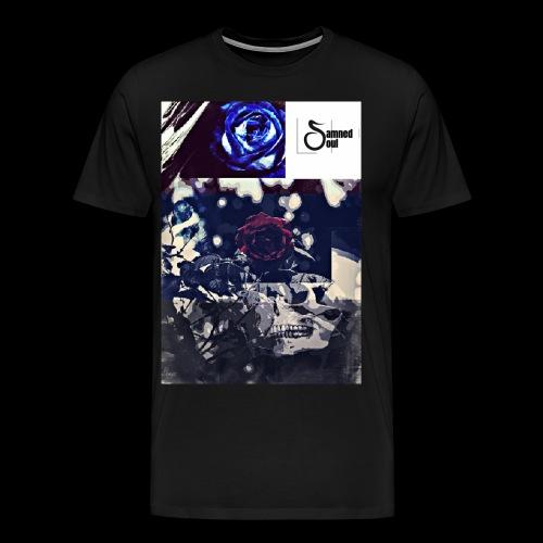 Damned soul skull and roses design - Men's Premium T-Shirt