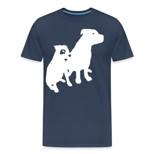 Doggy / zwei brave Hunde zum verschenken - Männer Premium T-Shirt