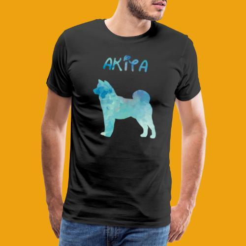 Akita en aquarelle - T-shirt Premium Homme