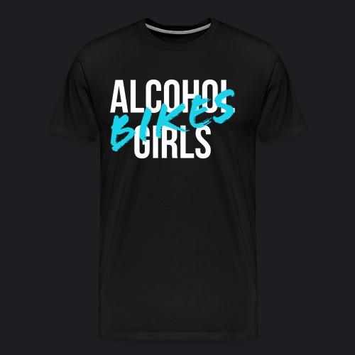 alcohol bikes girls - Männer Premium T-Shirt