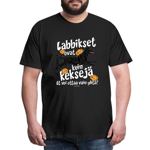 Labradori Keksi 3 - Miesten premium t-paita