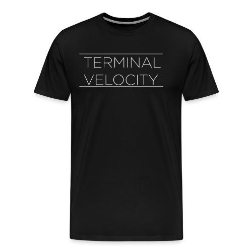 TERMINAL VELOCITY WHITE TRAMLINES - Men's Premium T-Shirt