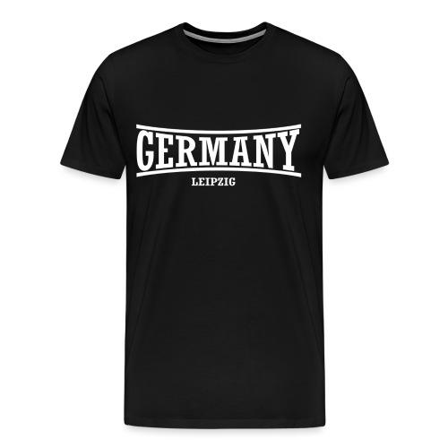 germany-leipzig-weiß - Männer Premium T-Shirt