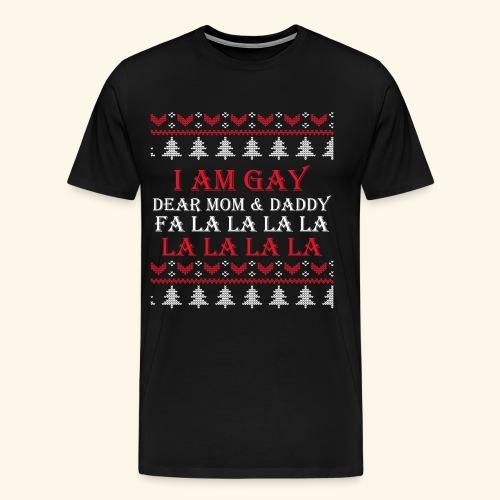 Gay Christmas sweater - Koszulka męska Premium