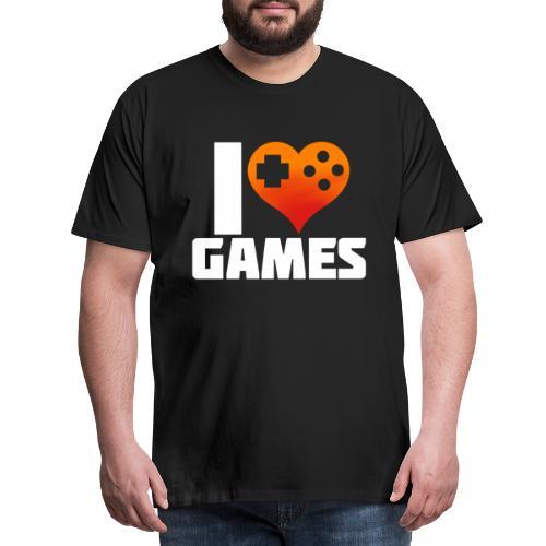 I <3 Games - Männer Premium T-Shirt