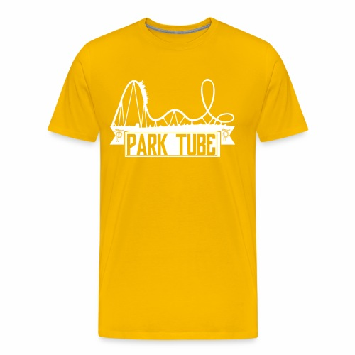 ParkTube Banner mit Achterbahn - Männer Premium T-Shirt