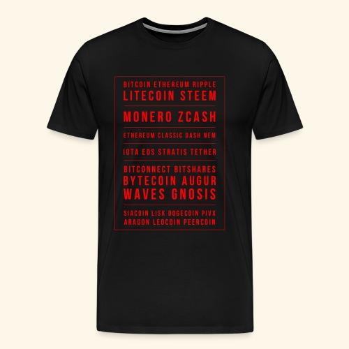 BITCOIN MONERO ZCASH - Men's Premium T-Shirt
