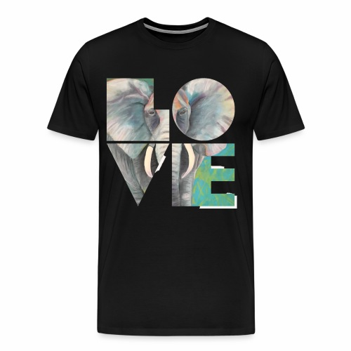 Elefant der Liebe - Männer Premium T-Shirt