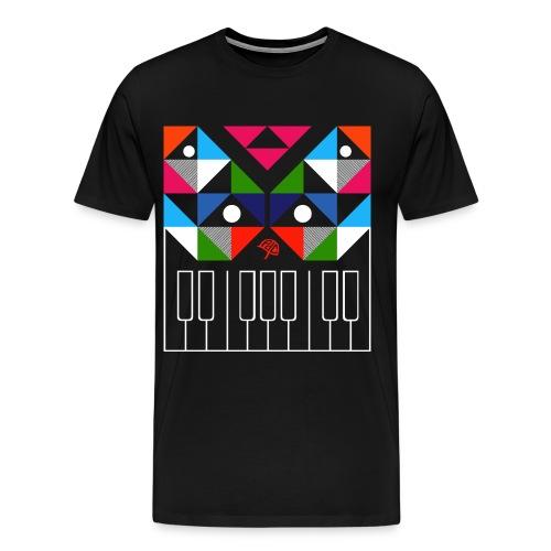 piano wit - Mannen Premium T-shirt