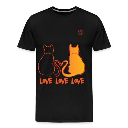 The Red Twins LOVE LOVE LOVE - Maglietta Premium da uomo