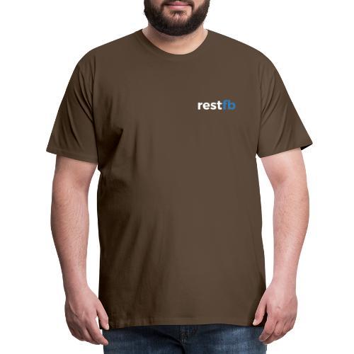 RestFB logo white - Men's Premium T-Shirt