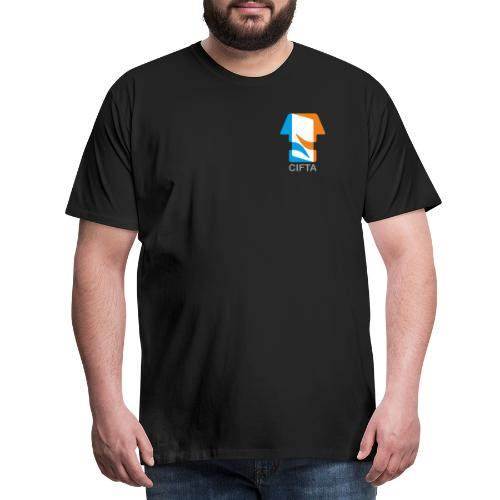 Logo CIFTA final letra gris50 - Camiseta premium hombre