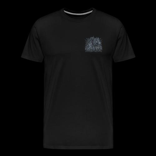 khasm blason + Wolf on Back - T-shirt Premium Homme