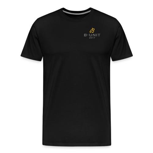 BUNIT New logo grey text - Premium-T-shirt herr