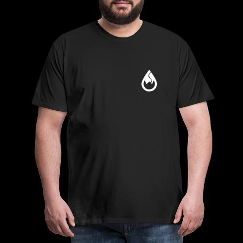 WS-Crew Tropfen-Logo weiß - Männer Premium T-Shirt