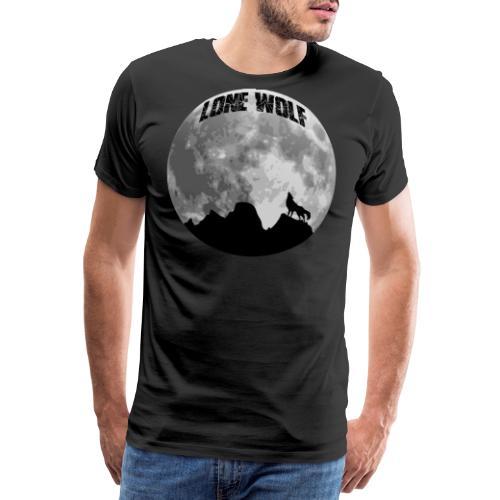 Lone Wolf einsamer Wolf - Männer Premium T-Shirt