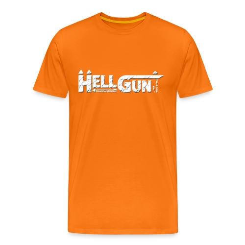 HELLGUN logo 2014 weiss png - Männer Premium T-Shirt