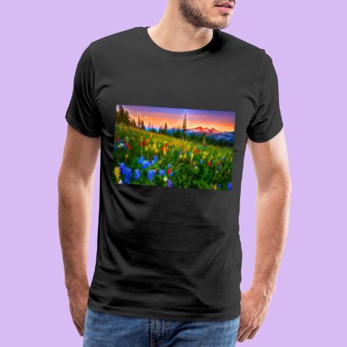 Bagliori in montagna - Maglietta Premium da uomo