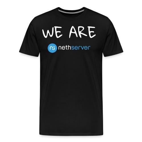 white-blue-rectangular - Men's Premium T-Shirt