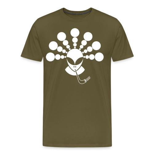 The Smoking Alien White - Men's Premium T-Shirt