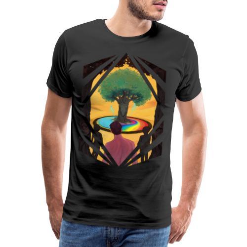 Traveller at the Tree of Creativity - Men's Premium T-Shirt