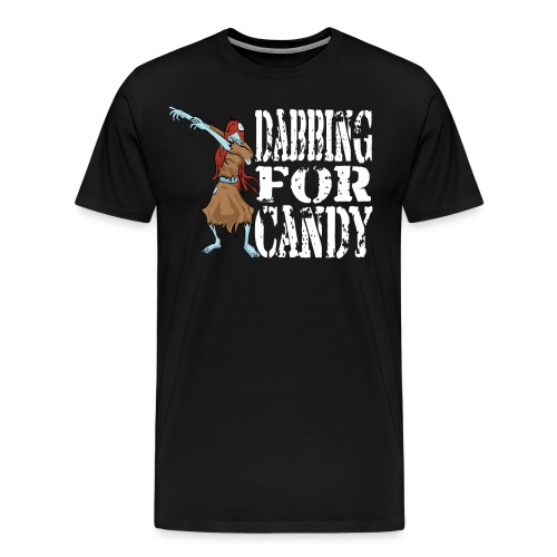Funny Halloween Zombie Girl Dabbing For Candy. Trick or Treat Candy Lover Gift - Men's Premium T-Shirt
