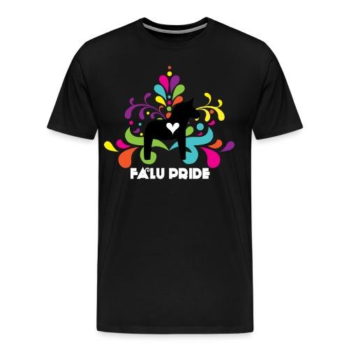 Logo med vit text - Premium-T-shirt herr
