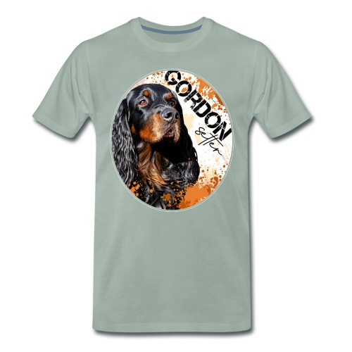 Gordon Setter Splash - Miesten premium t-paita