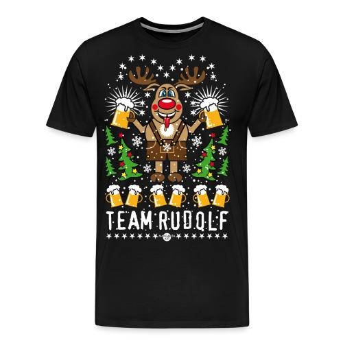 107 Team Hirsch Rentier Rudolph Rudolf Bier Beer - Männer Premium T-Shirt