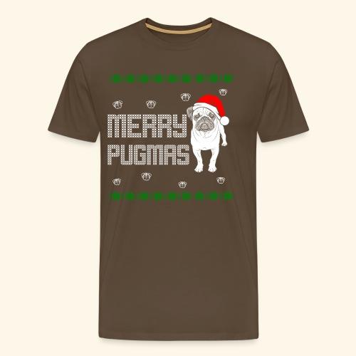 Weihnacht Mops Hund T-Shirt - ugly Christmas - Männer Premium T-Shirt