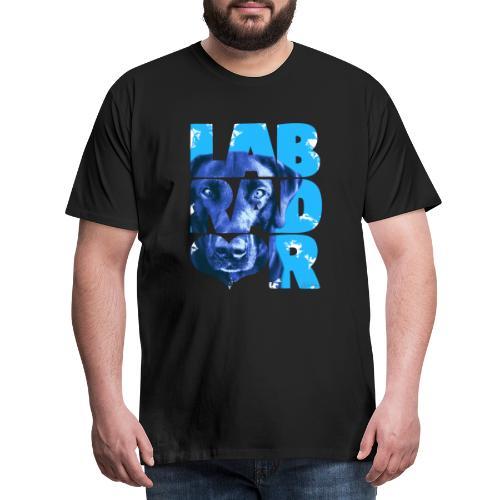 NASSU Labrador Black I - Miesten premium t-paita