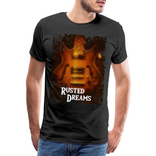 Rusted Dreams   Guitar Artwork - Maglietta Premium da uomo