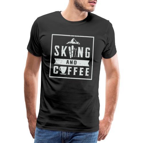 Ski coffee skier winter sport snow alpine - Men's Premium T-Shirt