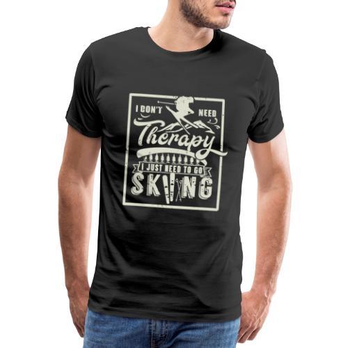 Ski snow alpine winter sport skier - Men's Premium T-Shirt
