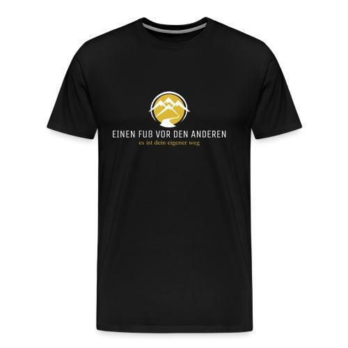 Einen Fuß vor den anderen LOGO weiß - Männer Premium T-Shirt