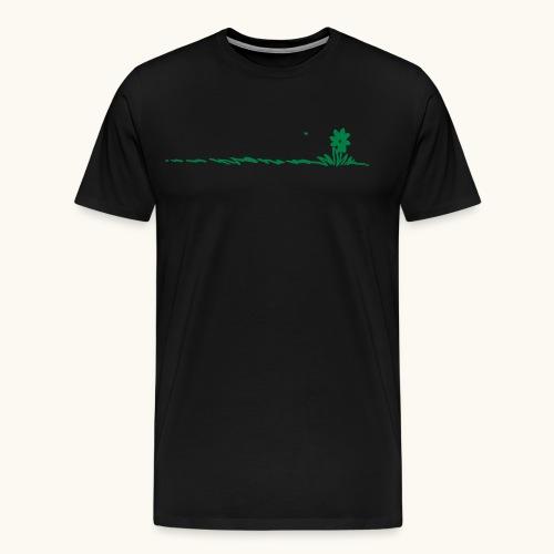 fleur de bande dessinée dans l'herbe avec des insectes - T-shirt Premium Homme