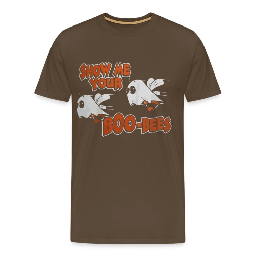 Show me your boo-bees funny halloween shirt - Men's Premium T-Shirt
