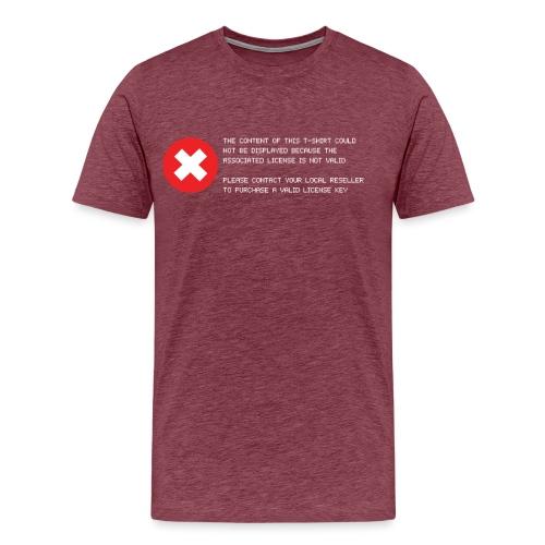 T-shirt Error - Maglietta Premium da uomo