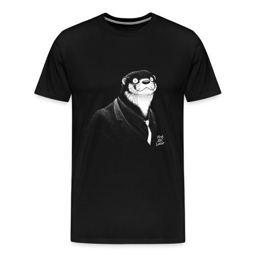 White Otter dressed in Black - Men's Premium T-Shirt